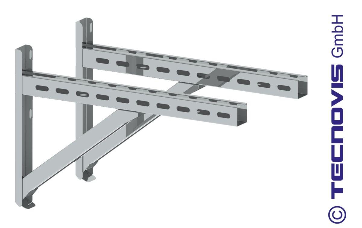 Våggkonsoler TYP2 (Par) avstånd till 22 cm