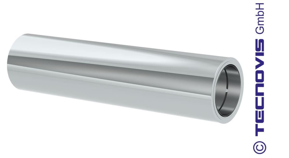 Vägggenomföring 94 cm förkortas möjligt med övergång från enkelrör till modulskorsten