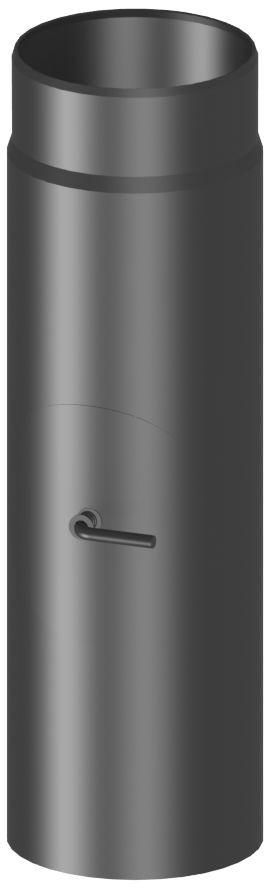 Rökrör/skorstensrör 30 cm med spjäll och sotlucka