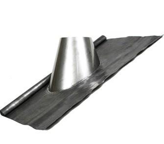 Täckplåt yttertak bly 26 - 35º  med regnkrage