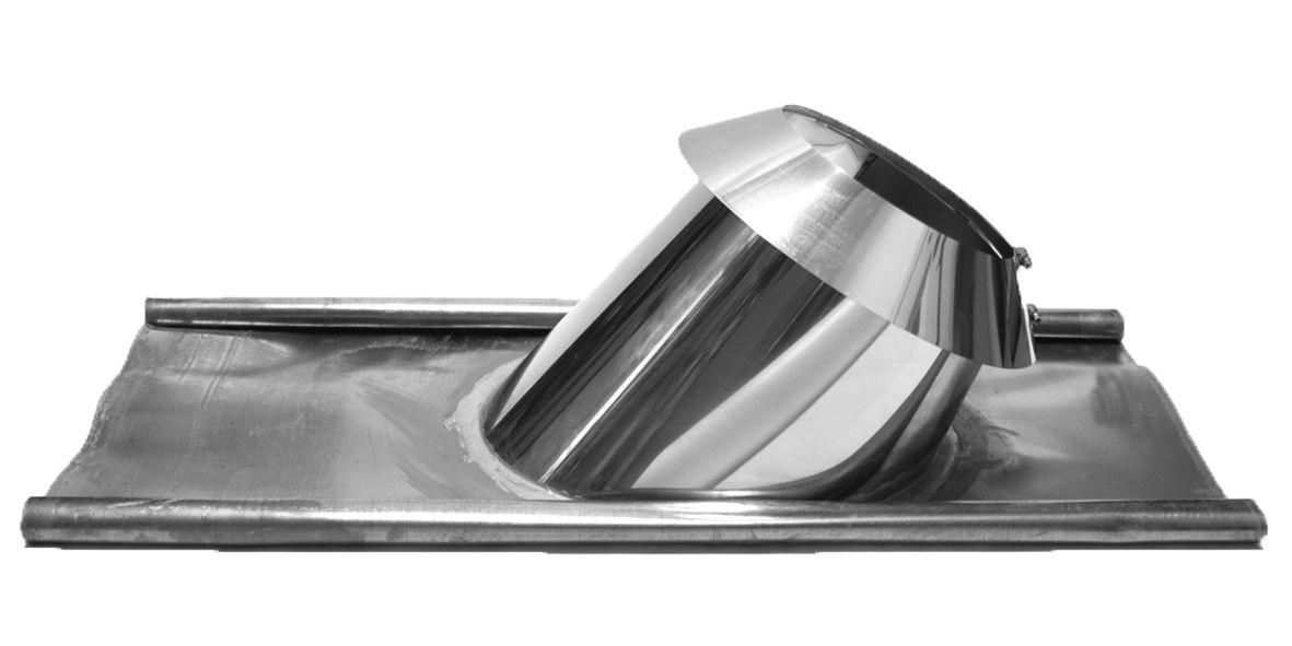 Täckplåt yttertak bly 36 - 45º med regnkrage