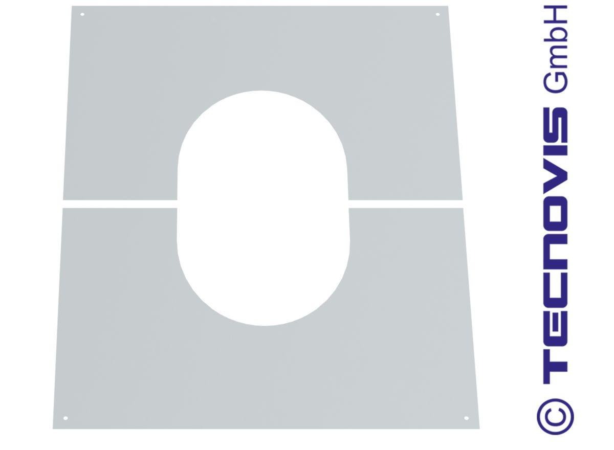 Täckplåt delad 30-45°