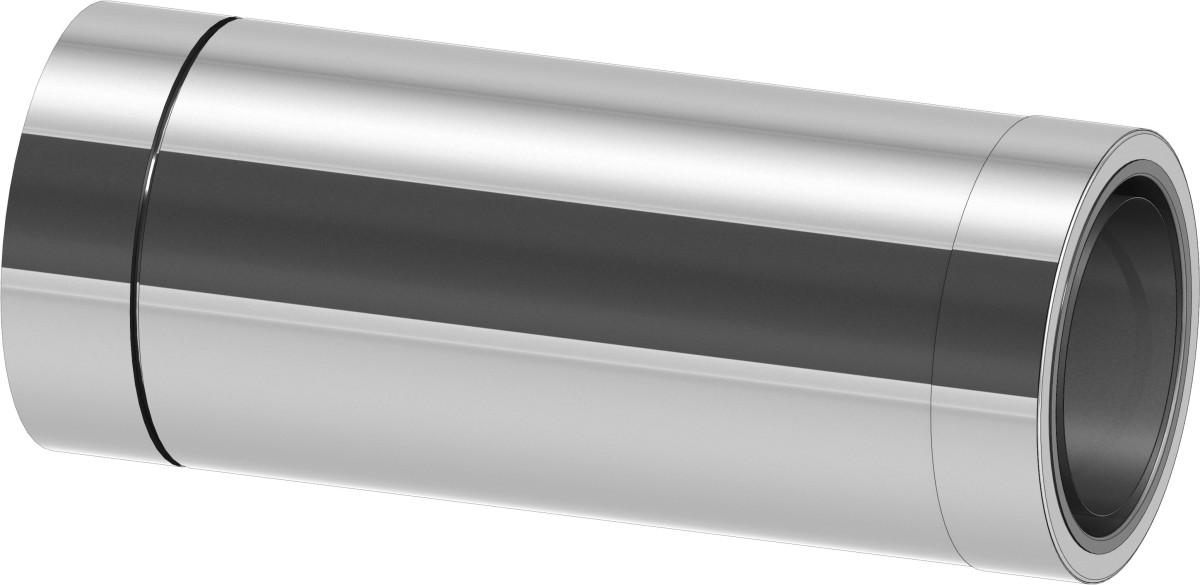 Vägggenomföring 44 cm förkortas möjligt med övergång från enkelrör till modulskorsten