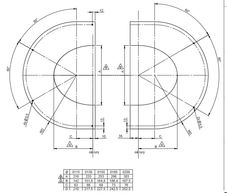 Täckplåt delad 31- 40°