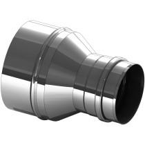 Övergång i rostfritt stål, 150 mm till 160 mm